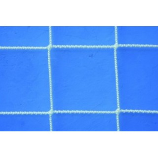 Plasa protectie polipropilena ignifugata, fir 3,0mm, ochi 100x100mm, alba