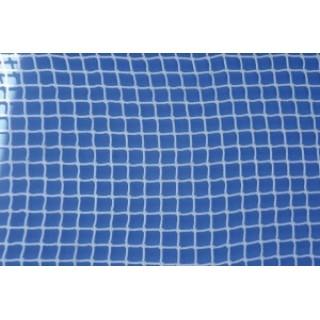 Plasa protectie polipropilena ignifugata, fir 3,0mm, ochi 25x25mm, alba