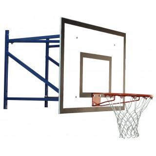 Consola de baschet de perete echipata, proiectie 100cm, panou 180x105cm