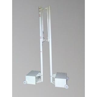 Stalpi multifunctionali otel, mobili, profil rotund 76mm