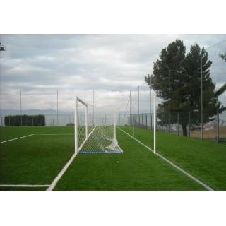 Poarta fotbal 7.32x2.44m aluminiu fixa, profil 120x100mm, certificata EN748