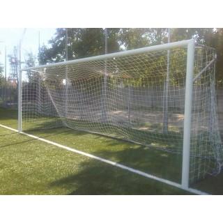 Poarta fotbal 7.32x2.44m aluminiu, profil 120x100mm, certificata EN 748