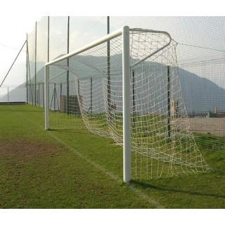 Poarta fotbal 5x2m aluminiu fixa, Certificate EN748, profil 120x100mm